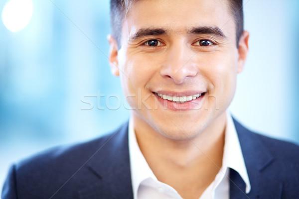 лице бизнесмен глядя камеры улыбка Сток-фото © pressmaster