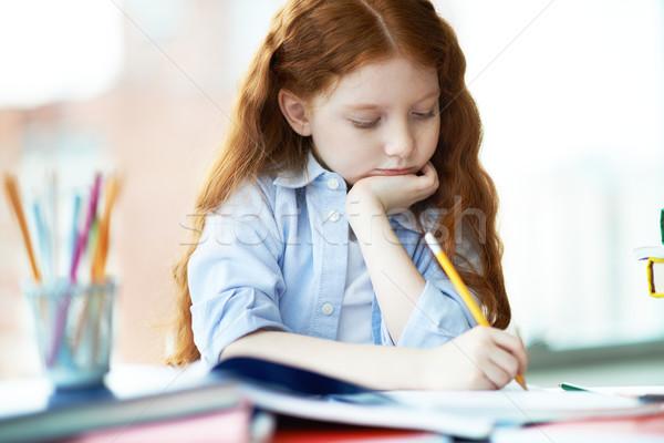 Cute learner Stock photo © pressmaster