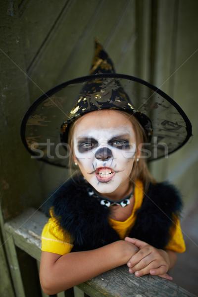 Halloween przerażający portret cute dziewczyna kostium Zdjęcia stock © pressmaster
