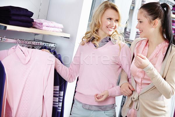 Choosing new pullover Stock photo © pressmaster