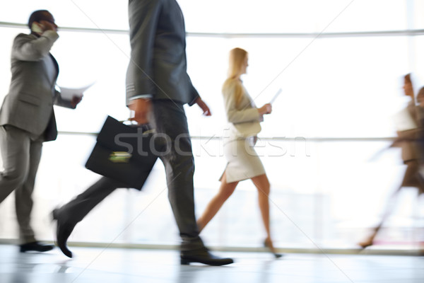 Stock photo: Hurrying to work
