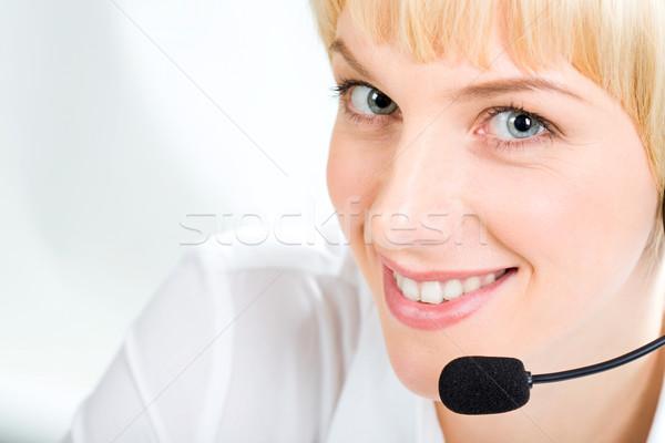 Representante retrato amigável olhos branco Foto stock © pressmaster