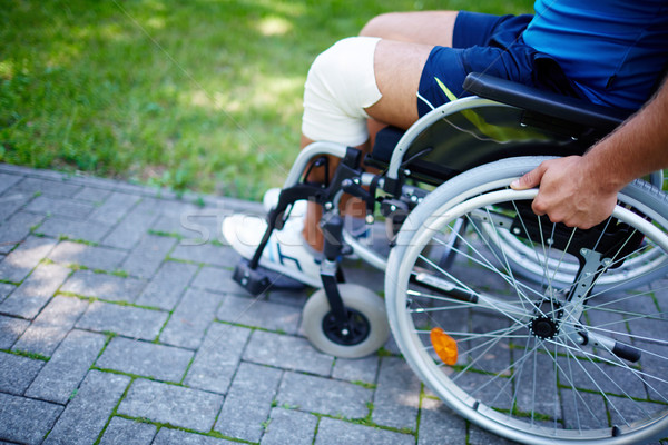Wheelchair walk Stock photo © pressmaster