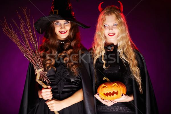 Halloween celebrators Stock photo © pressmaster