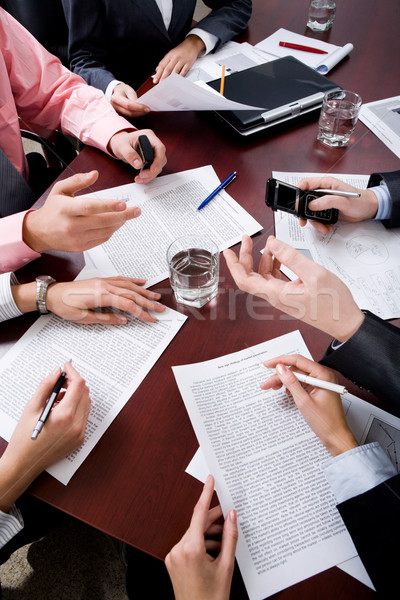Handen afbeelding zakenlieden business kantoor hand Stockfoto © pressmaster