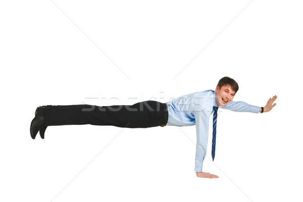 Oefening foto geschoold man permanente een Stockfoto © pressmaster