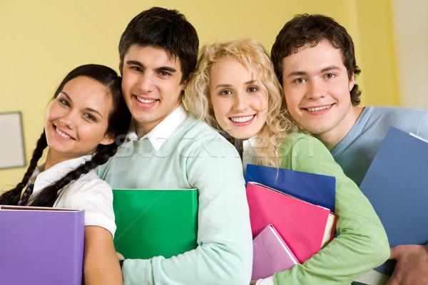 Portré boldog diákok áll zárt egyéb Stock fotó © pressmaster
