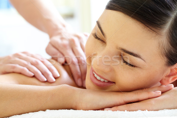 Photo stock: Heureux · Homme · souriant · luxueux · massage