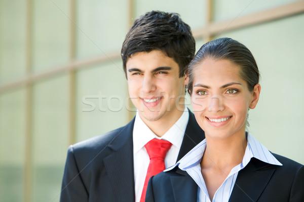 Zdjęcia stock: Liderem · portret · uśmiechnięty · kobieta · interesu · partnerem · kobieta