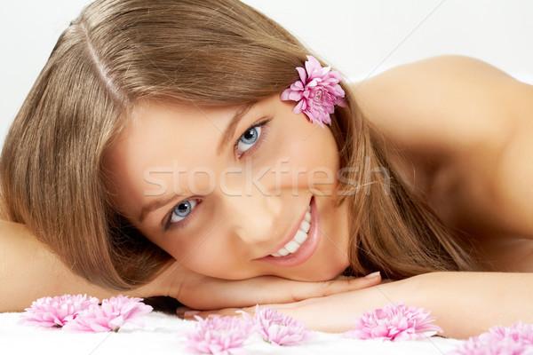 Girl with flowers Stock photo © pressmaster