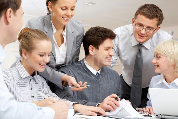 Negocios interacción imagen empresario plan Foto stock © pressmaster