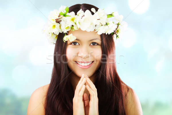 Female in wreath Stock photo © pressmaster