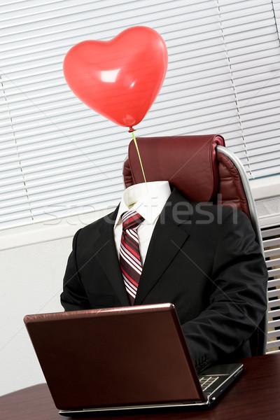 Suit with balloon Stock photo © pressmaster