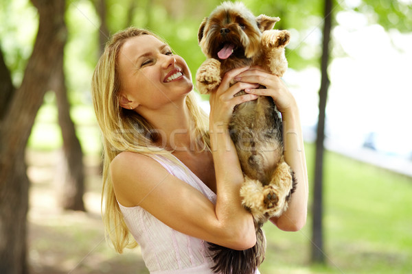 Stock photo: Playing with dog