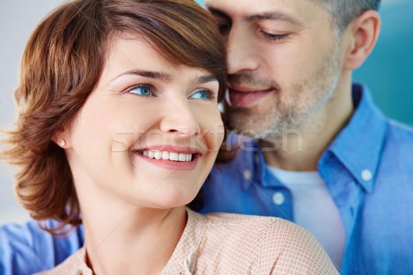 Kötődés portré boldog nő szerető férfi Stock fotó © pressmaster