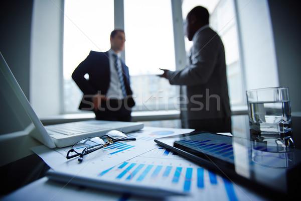 Kantoor objecten afbeelding bril pen glas Stockfoto © pressmaster