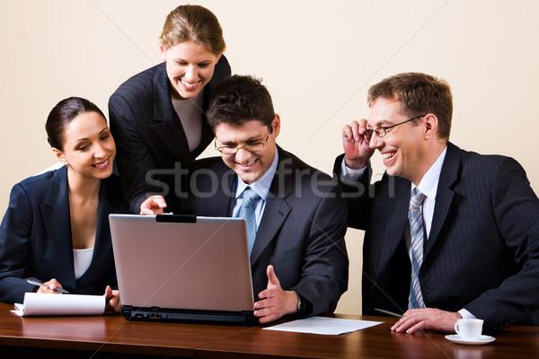 Impressionante resultados bem sucedido pessoas de negócios feliz perfeito Foto stock © pressmaster