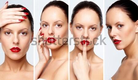 Káprázatos nő kollázs fényes smink modell Stock fotó © pressmaster