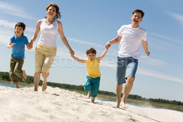 Сток-фото: работает · фото · счастливым · родителей · рук