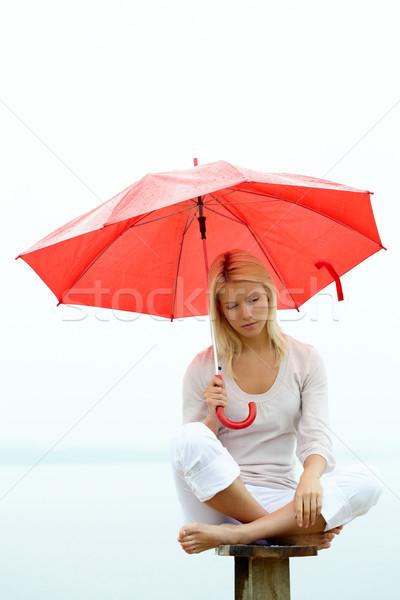 Stock photo: Sad girl