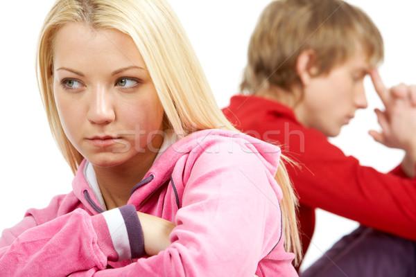 Conflicto imagen triste Pareja mujer estrés Foto stock © pressmaster