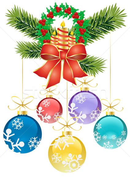 Karpuzu Noel dekorasyon renkli dizayn Stok fotoğraf © pressmaster