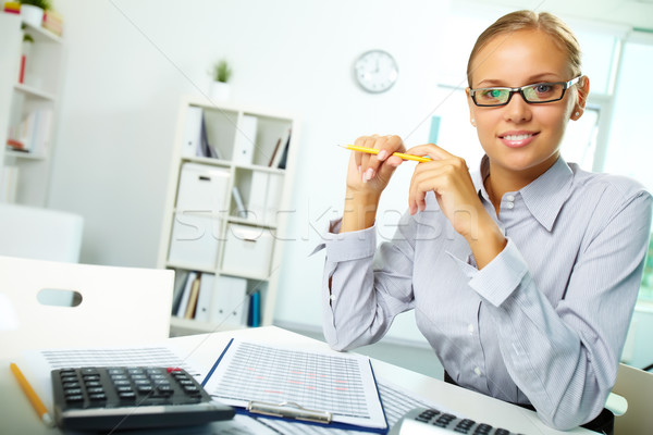 Successful accountant Stock photo © pressmaster