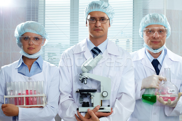 深刻 科学者 3  ラボ ストックフォト © pressmaster