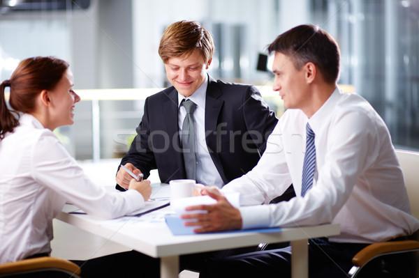 Photo stock: Positif · passions · équipe · commerciale · sur · rire