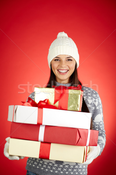 Christmas girl Stock photo © pressmaster