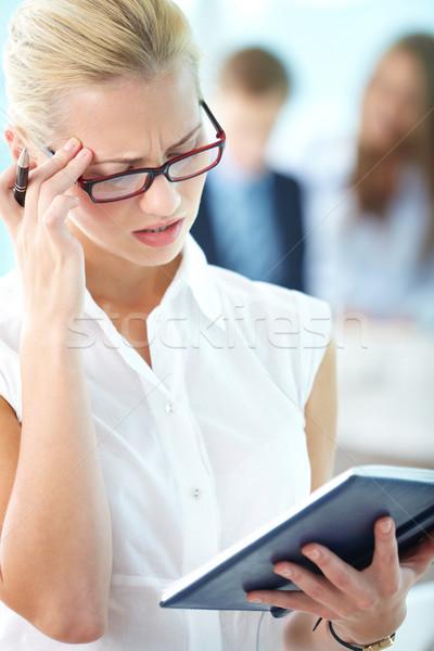 Nervous work Stock photo © pressmaster