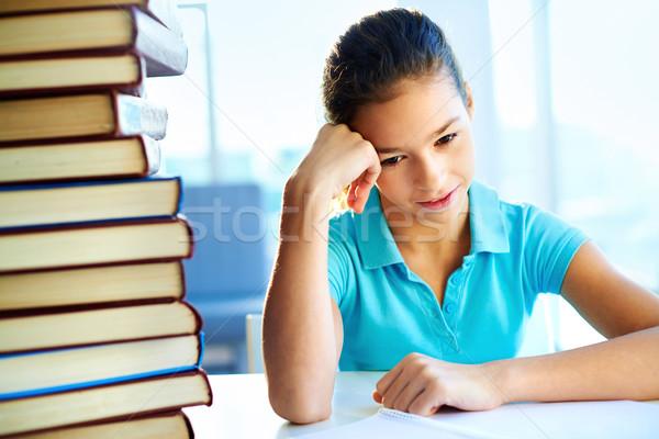 Nauczyć szkoły ilość książek student Zdjęcia stock © pressmaster
