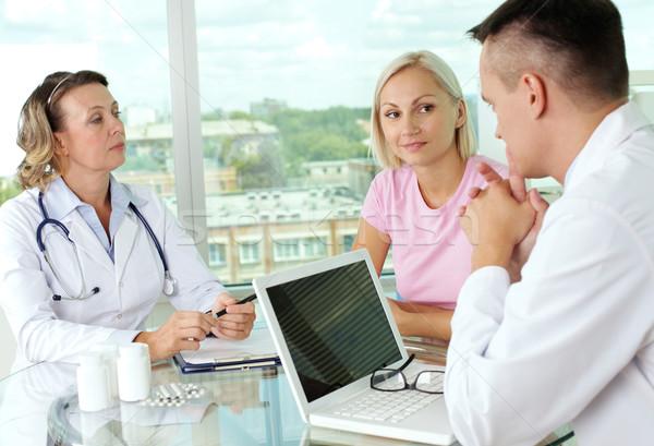 Médicos paciente retrato dois discutir novo Foto stock © pressmaster
