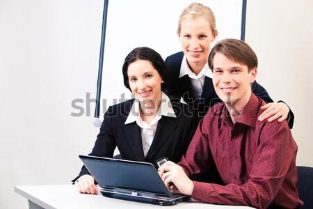Zdjęcia stock: Zespół · firmy · portret · człowiek · dwa · działalności · kobiet
