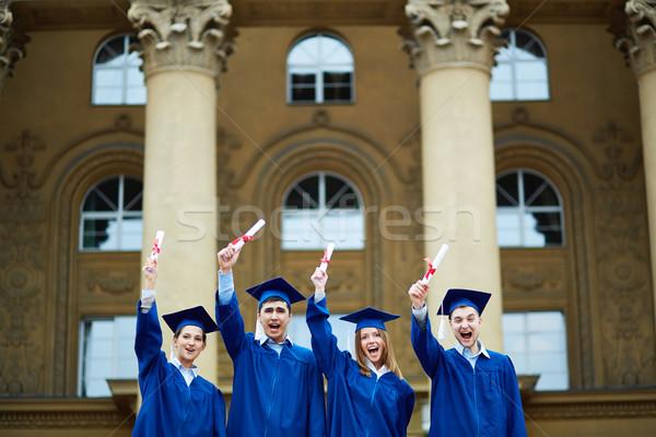 подходящий группа Smart студентов окончания Сток-фото © pressmaster