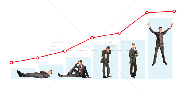 Stock photo: Man and graph