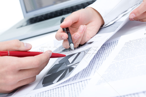 Planning werk mensen handen discussie Stockfoto © pressmaster