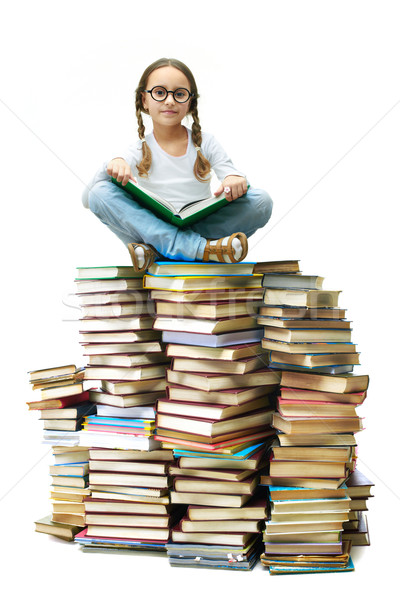 Stock photo: On top of knowledge
