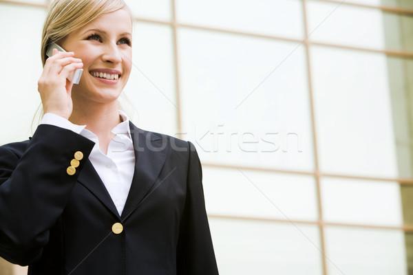 Kadın çağrı fotoğraf başarılı işkadını cep telefonu Stok fotoğraf © pressmaster