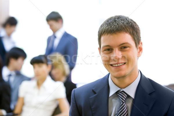 Stok fotoğraf: Başarılı · adam · portre · gülen · işadamı · bakıyor