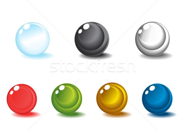 Sphères coloré blanche design art Photo stock © pressmaster