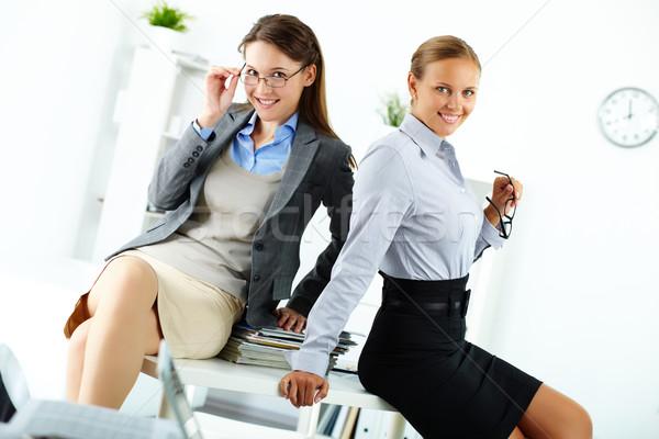 Photo stock: élégante · collègues · portrait · heureux · jeunes · affaires
