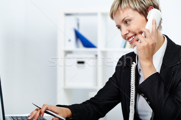Answering a call Stock photo © pressmaster