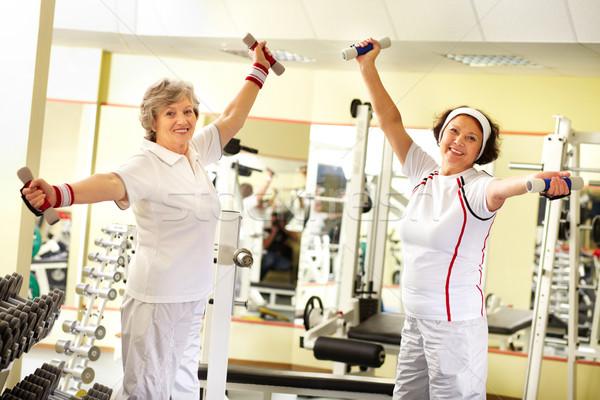тяжелая атлетика два довольно старший женщины Сток-фото © pressmaster