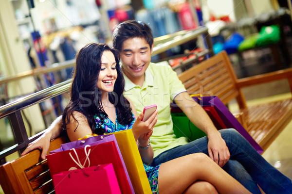 Shoppers communicating Stock photo © pressmaster