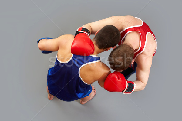 Ring Boxen halten andere Hacke Sport Stock foto © pressmaster