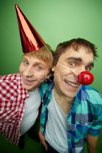 Jungs Party Tag voll Swing lächelnd Stock foto © pressmaster