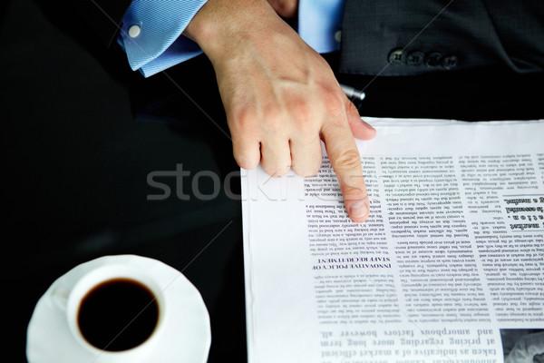 Pointing at article Stock photo © pressmaster