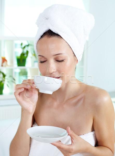 Enjoying tea Stock photo © pressmaster