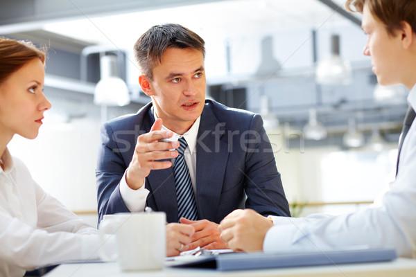 ブリーフィング ビジネス リーダー 従業員 男 ストックフォト © pressmaster